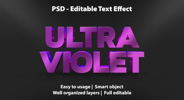 Modello ultra viola di effetto di testo