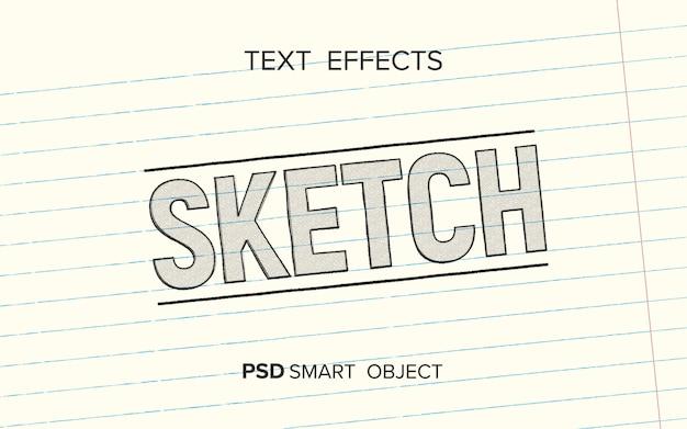 Scrittura effetto testo