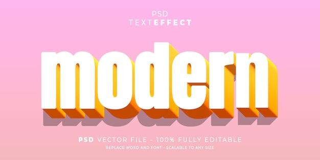 Modello modificabile con stile effetto testo e carattere