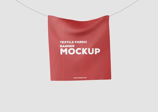 Mockup di banner in tessuto tessile