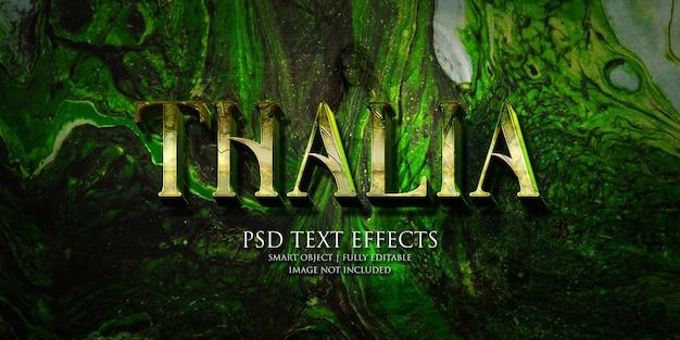 Effetto testo thalia Psd Premium