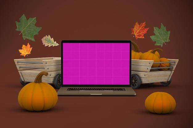 Mockup del sito web del ringraziamento