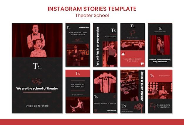 Modello di storie instagram scuola di teatro