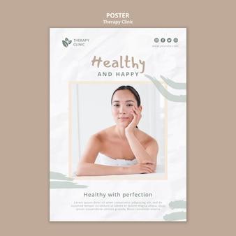 Modello di poster del concetto di terapia