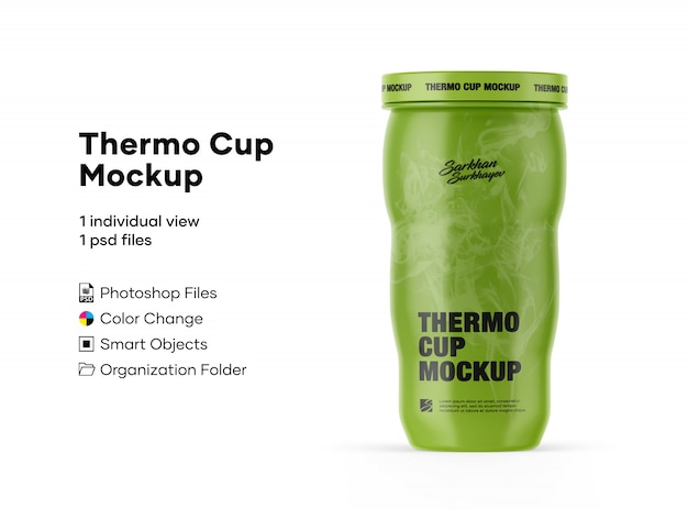 Mockup thermo cup