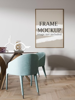 Mockup di cornice in legno sottile per le tue idee di design