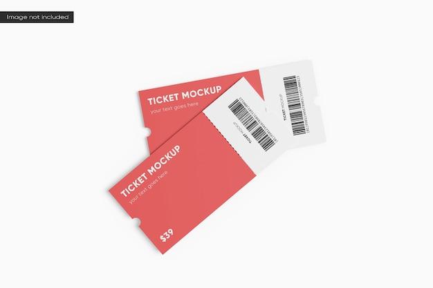 Biglietto mockup rendering 3d
