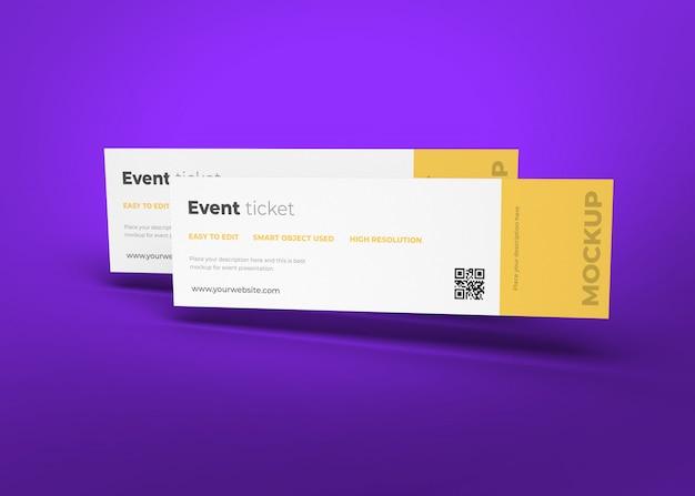 Modello di mockup del biglietto