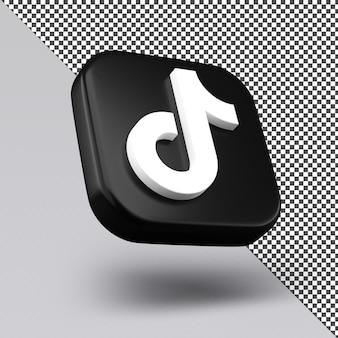 Tiktok 3d icon design isolato