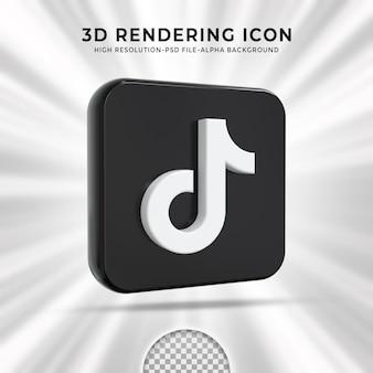 Logo lucido tiktok e icone social media