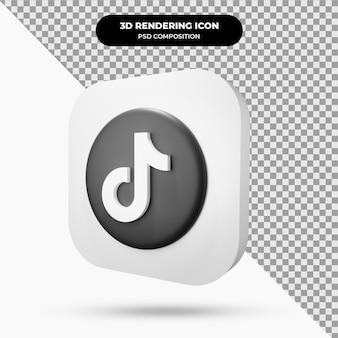 Icona 3d dell'oggetto tiktok