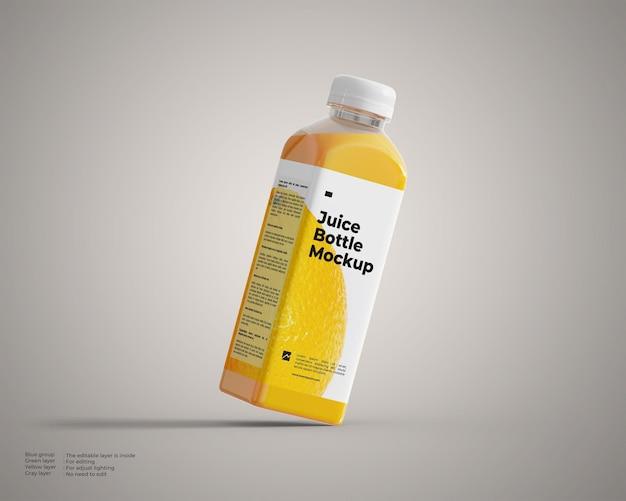 Mockup di bottiglia di succo inclinabile