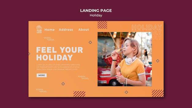 Tempo per la pagina di destinazione delle vacanze