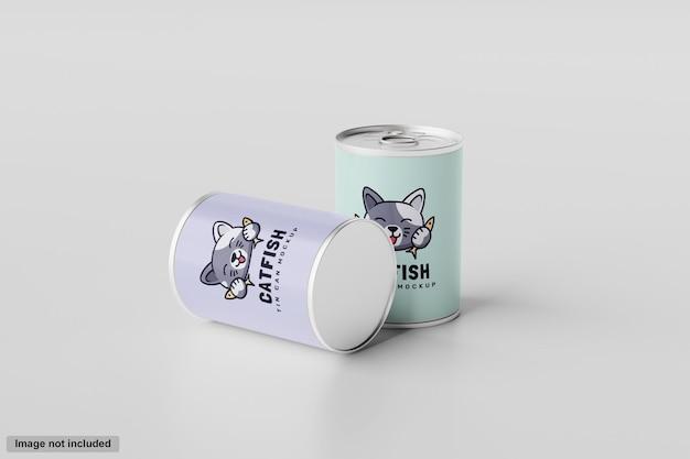 Modello di barattolo di latta