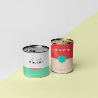 Barattolo di latta pop design mockup