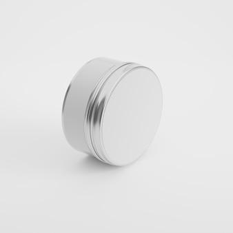 Mockup di prodotto contenitore di latta in rendering 3d