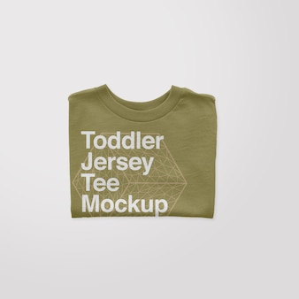 Mockup di t-shirt piegata in jersey per bambini