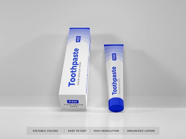 Dentifricio packaging 3d mockup