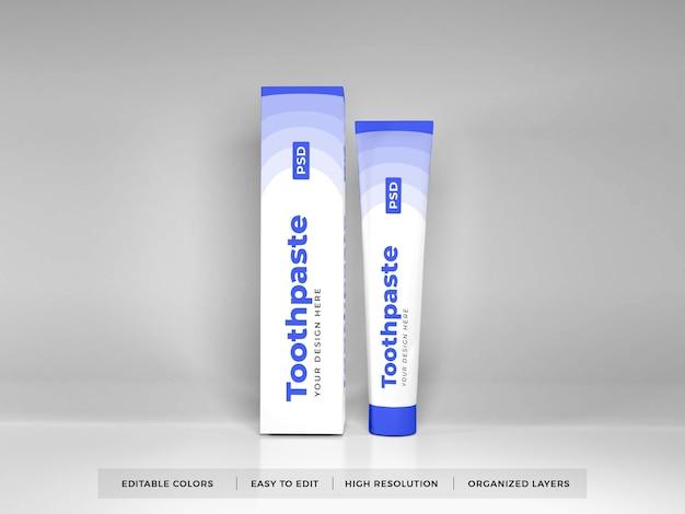 Dentifricio packaging 3d mockup Psd Premium