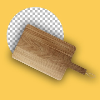 Top up vista tagliere in legno isolato