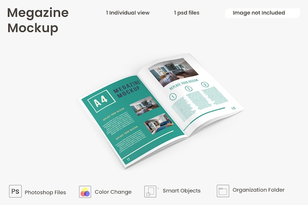Vista dall'alto di prototipi di brochure e cataloghi psd premium
