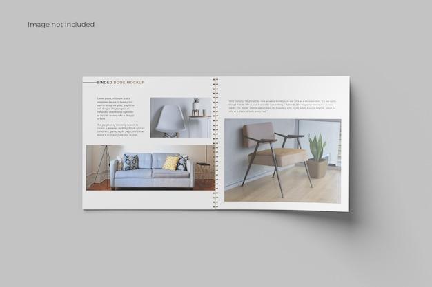 Top view catalog binder mockup