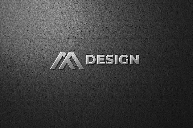 Vista dall'alto sul mockup del logo nel rendering 3d