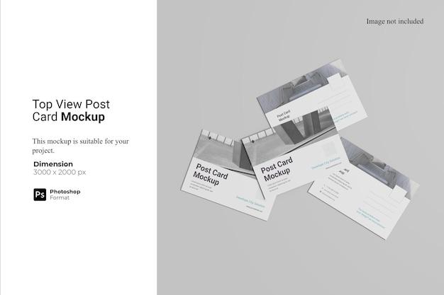 Top view post card mockup design