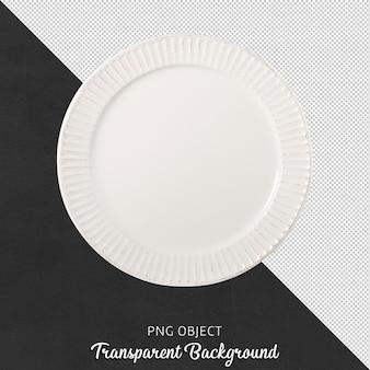 Vista dall'alto del piatto bianco effetto vintage