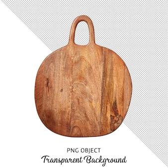 Vista dall'alto del tagliere o del tagliere in legno isolato