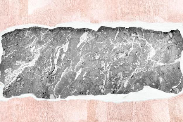 Design di mockup di carta in marmo strappato