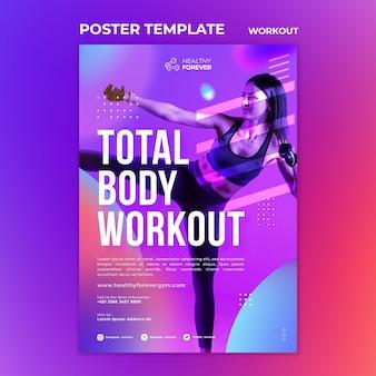 Modello di poster di allenamento total body