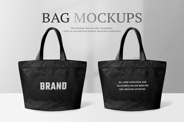 Tote bag mockup psd fashion style