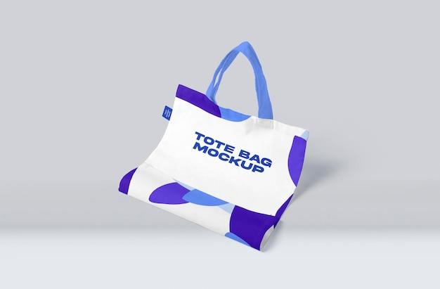 Tote canvas bag mockup design isolato