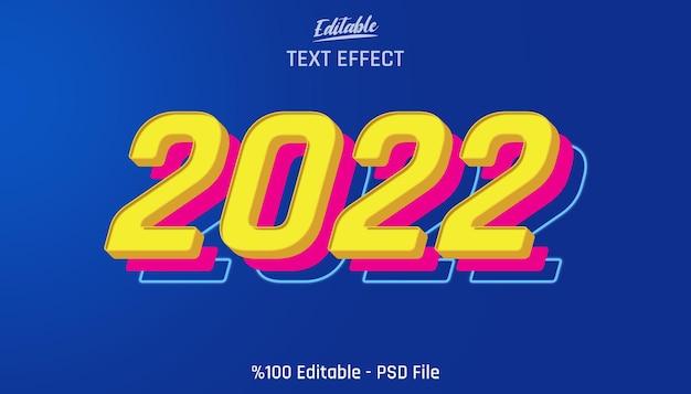 Effetto di testo modificabile 3d 2022 dall'aspetto giocattolo
