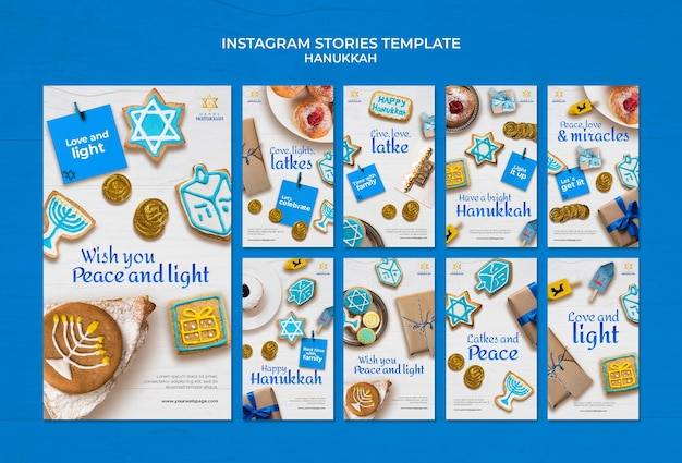 Raccolta di storie tradizionali di hanukkah ig