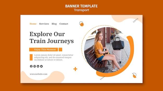 Modello di banner di viaggi in treno