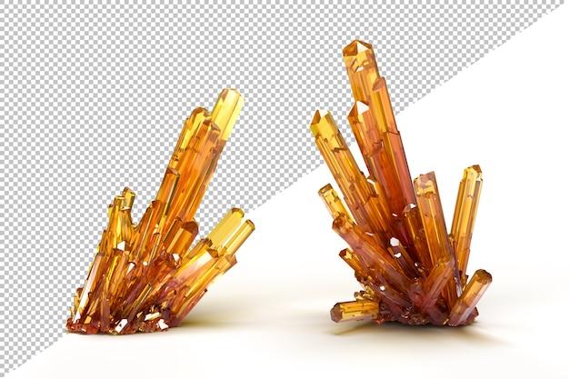 Traslucidi cristalli colorati sottili