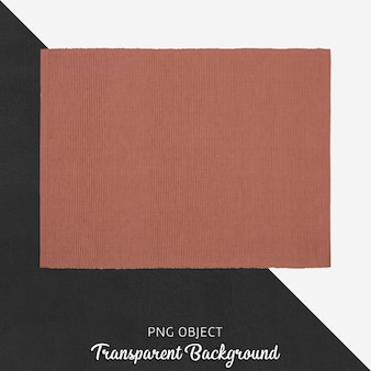 Servizio in tessuto rosso mattone trasparente