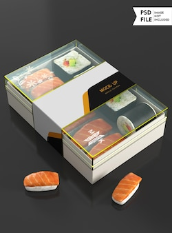 Mockup di scatola per alimenti trasparente