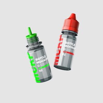 Mockup di bottiglia di liquido trasparente