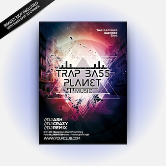 Trap bass planet party
