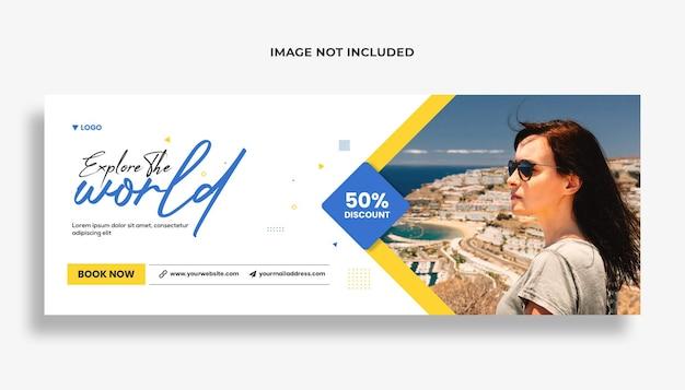 Modello di copertina facebook per agenzia di viaggi