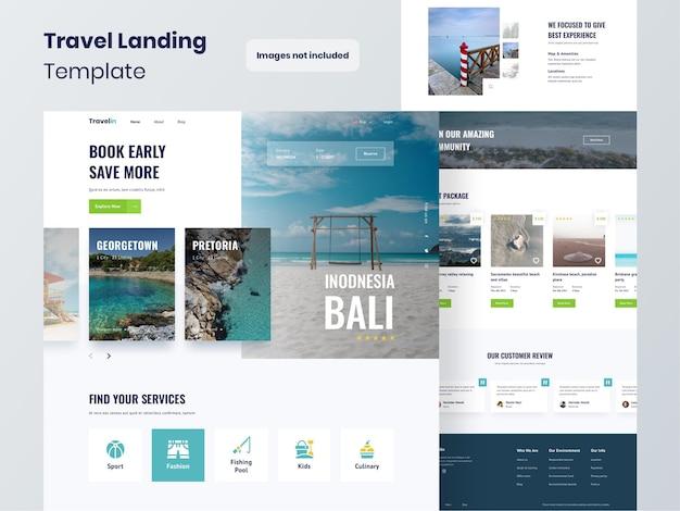 Modello di sito web per agenzia di viaggi