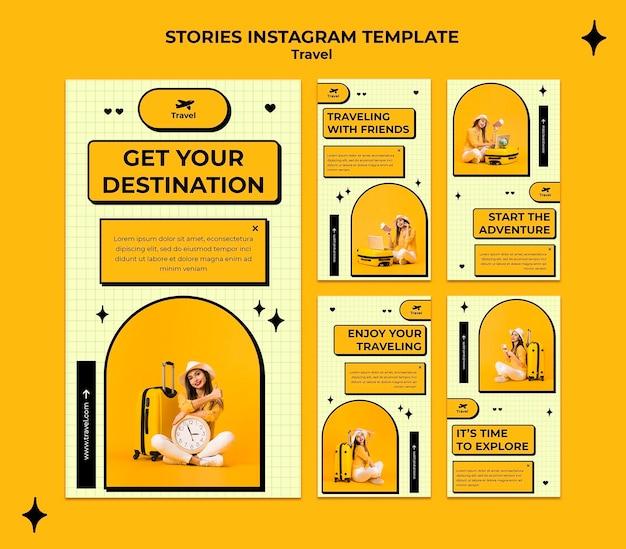 Storie di instagram di concetto di viaggio