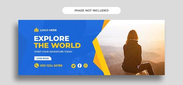 Modello di progettazione di copertina di facebook di viaggio