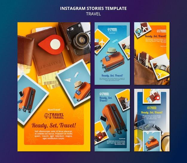 Modello di storie di viaggio su instagram