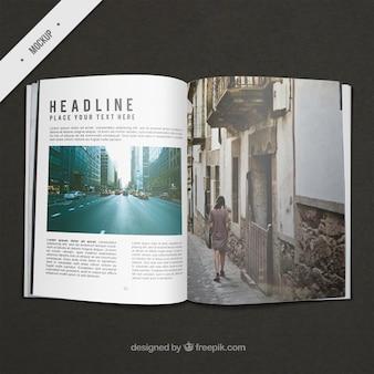 Travel magazine mockup