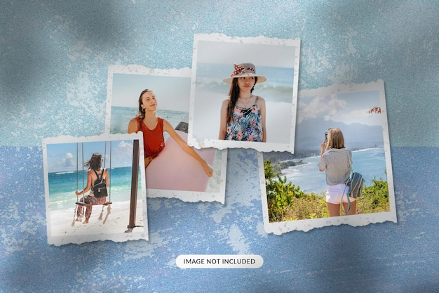 Mockup di foto di viaggio