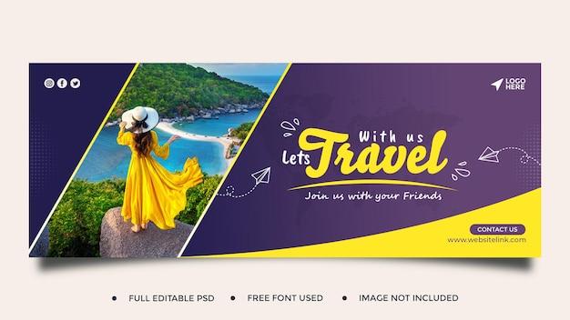 Post sui social media di viaggio post instagram o modello di banner web quadrato